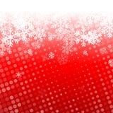 Fond rouge abstrait de Noël Images libres de droits