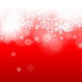Fond rouge abstrait de Noël Photographie stock