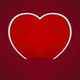 Fond rouge abstrait de papier de coeur. Photo libre de droits