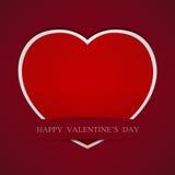 Fond rouge abstrait de papier de coeur. Photos stock