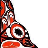 Fond rouge abstrait Nord-américain indigène Photo stock