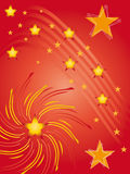 Fond rouge avec des étoiles Photographie stock
