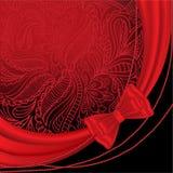 Fond rouge avec des programmes Image stock