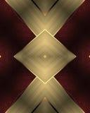 Fond rouge avec des rubans d'or Calibre pour la conception copiez l'espace pour la brochure d'annonce ou l'invitation d'annonce,  Image libre de droits