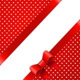 Fond rouge avec l'arc illustration libre de droits