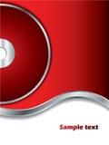 Fond rouge avec le disque Image stock