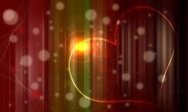 Fond rouge blanc de gradation de gemme et de coeur de wh Photo libre de droits