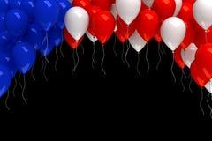 Fond rouge, blanc, et de bleu de ballons Photos stock