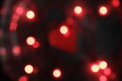 Fond rouge brouillé Photographie stock
