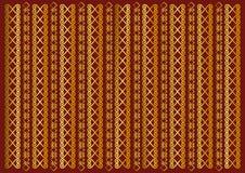 Fond rouge décoré des rayures verticales d'or d'ornement illustration libre de droits