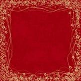 Fond rouge décoratif Photos stock
