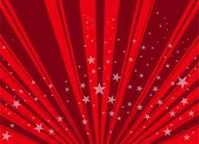 Fond rouge d'étoile Photographie stock libre de droits