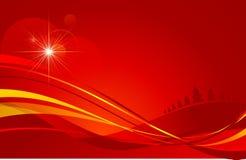 Fond rouge d'étoile de Noël Photo libre de droits