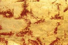 Fond rouge d'or Images libres de droits
