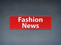Fond rouge d'abrégé sur bannière de nouvelles de mode illustration stock