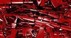 Fond rouge d'abrégé sur en métal illustration de vecteur