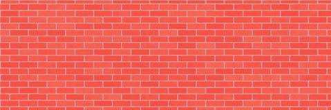 Fond rouge d'abrégé sur mur de briques Texture des briques Pierre décorative Illustration large de vecteur illustration de vecteur