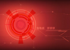 Fond rouge d'abrégé sur techno image libre de droits