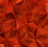 Fond rouge d'abrégé sur triangle Photos stock