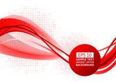 Fond rouge d'abrégé sur vague, illustration de vecteur avec l'espace de copie illustration de vecteur