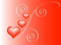 Fond rouge d'amour Illustration Stock