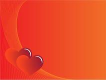 Fond rouge d'amour Illustration Libre de Droits