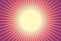 Fond rouge d'art de bruit du soleil Images stock