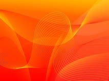 Fond rouge d'onde Photographie stock libre de droits