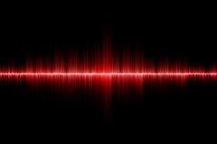 Fond rouge d'onde sonore Photo libre de droits
