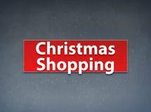 Fond rouge de achat d'abrégé sur bannière de Noël illustration stock