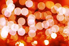Fond rouge de Bokeh et orange abstrait Photo stock