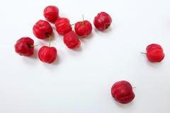 Fond rouge de bonbon à cerise Photo stock