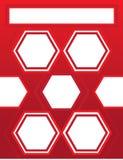 Fond rouge de brochure d'en-tête de lettre Image libre de droits