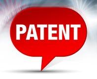 Fond rouge de bulle de brevet illustration stock