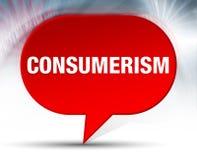 Fond rouge de bulle de consommationisme illustration de vecteur