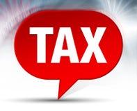 Fond rouge de bulle d'impôts illustration stock