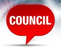 Fond rouge de bulle du Conseil illustration libre de droits