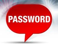 Fond rouge de bulle de mot de passe illustration libre de droits