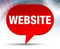 Fond rouge de bulle de site Web illustration libre de droits