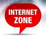Fond rouge de bulle de zone d'Internet illustration de vecteur