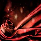 Fond rouge de clignotant de satin. Images libres de droits