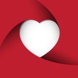 Fond rouge de coeur Photographie stock libre de droits