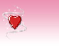 Fond rouge de coeur Image stock