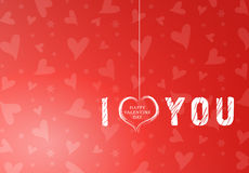 fond rouge de coeur de valentine Photographie stock libre de droits