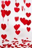 Fond rouge de coeurs Image libre de droits