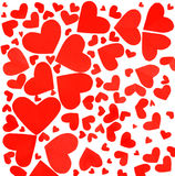 Fond rouge de coeurs Photographie stock