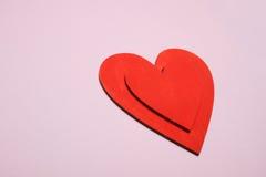 Fond rouge de coeurs Photo stock