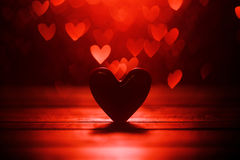 Fond rouge de coeurs Images stock