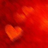 Fond rouge de coeurs avec l'effet de bulles Image libre de droits