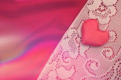 Fond rouge de coeurs Concept de jour de Valentines Photographie stock
